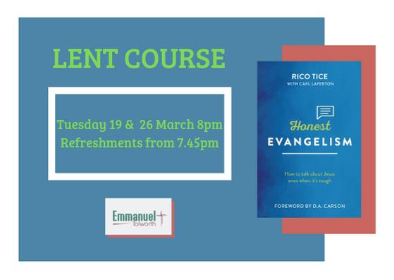 Honest Evangelism – Lent Course 2019
