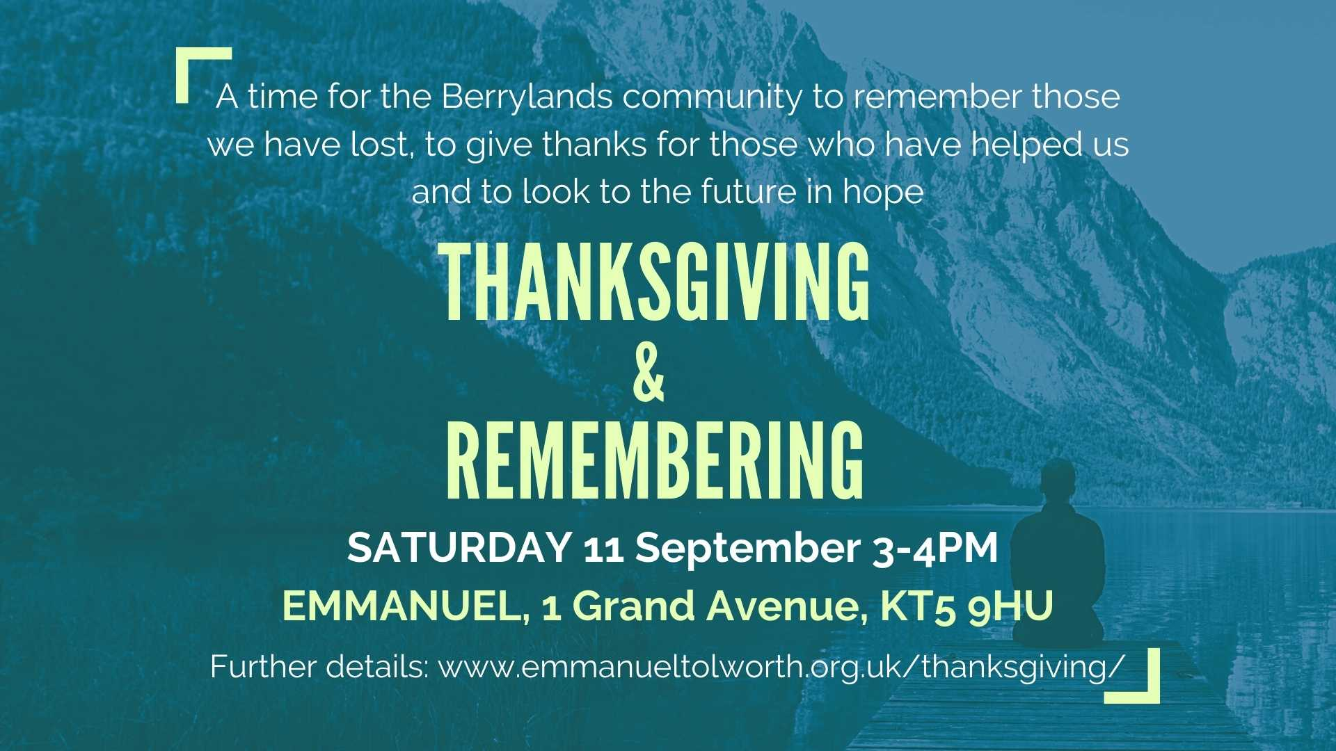 Service of Thanksgiving and Remembering